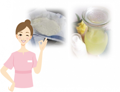 消毒用エタノールを入れて5分ほど置き、ふきんやキッチンペーパーで絞れば手作り豆乳ローションの出来上がり